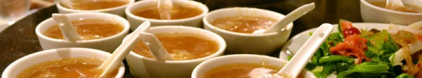 The infamous Chinese cuisine - shark fin soup.