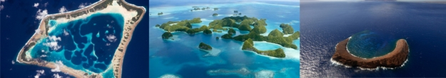 The remote islands and atolls of the Pacific