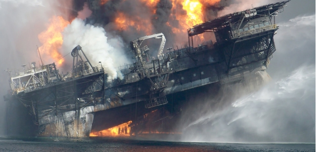 Photos of the DHW inferno were captured by the crew of nearby ships