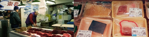 Whale meat sold as food in Japanese markets